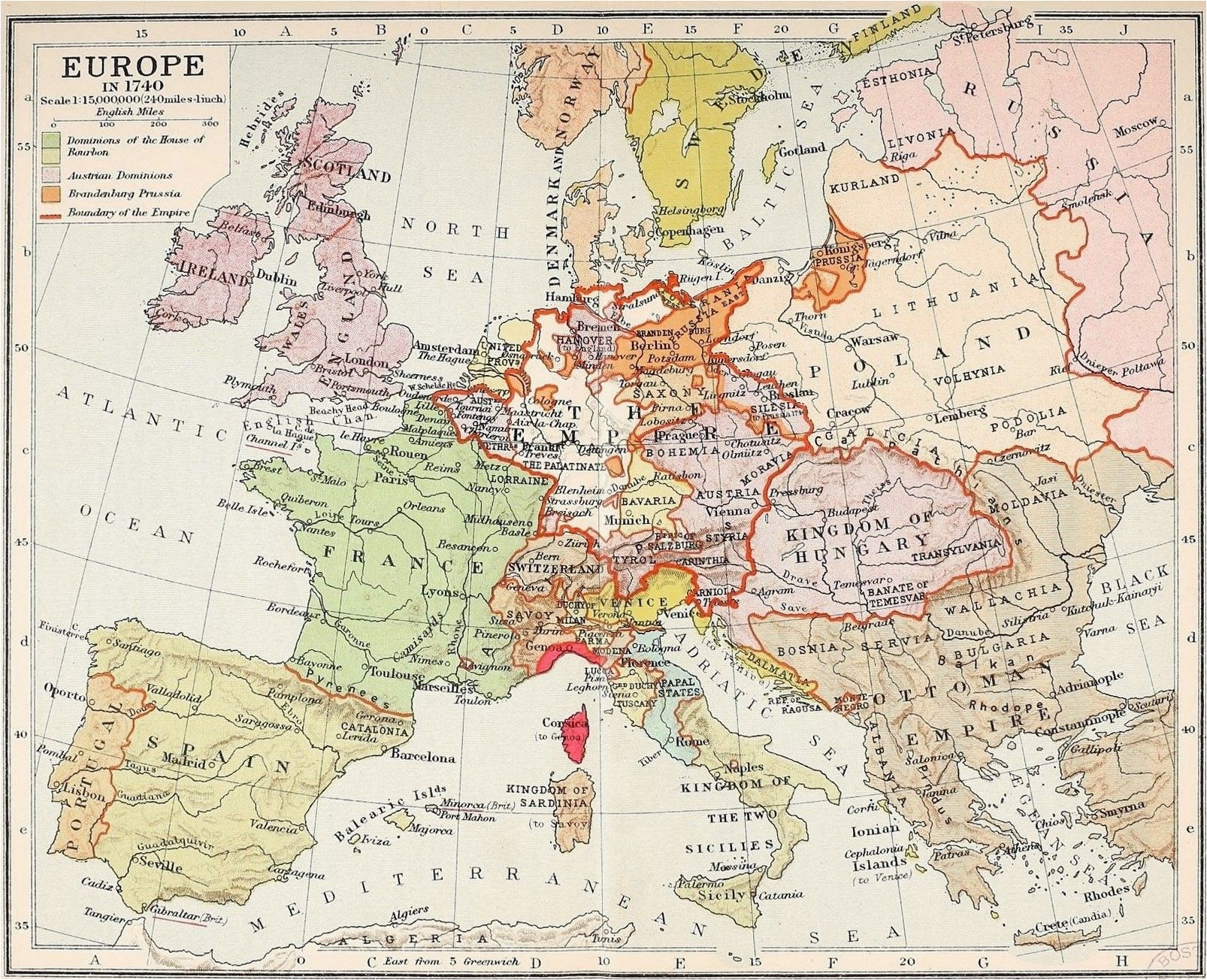 map of europe boundary of the holy roman empire dominions