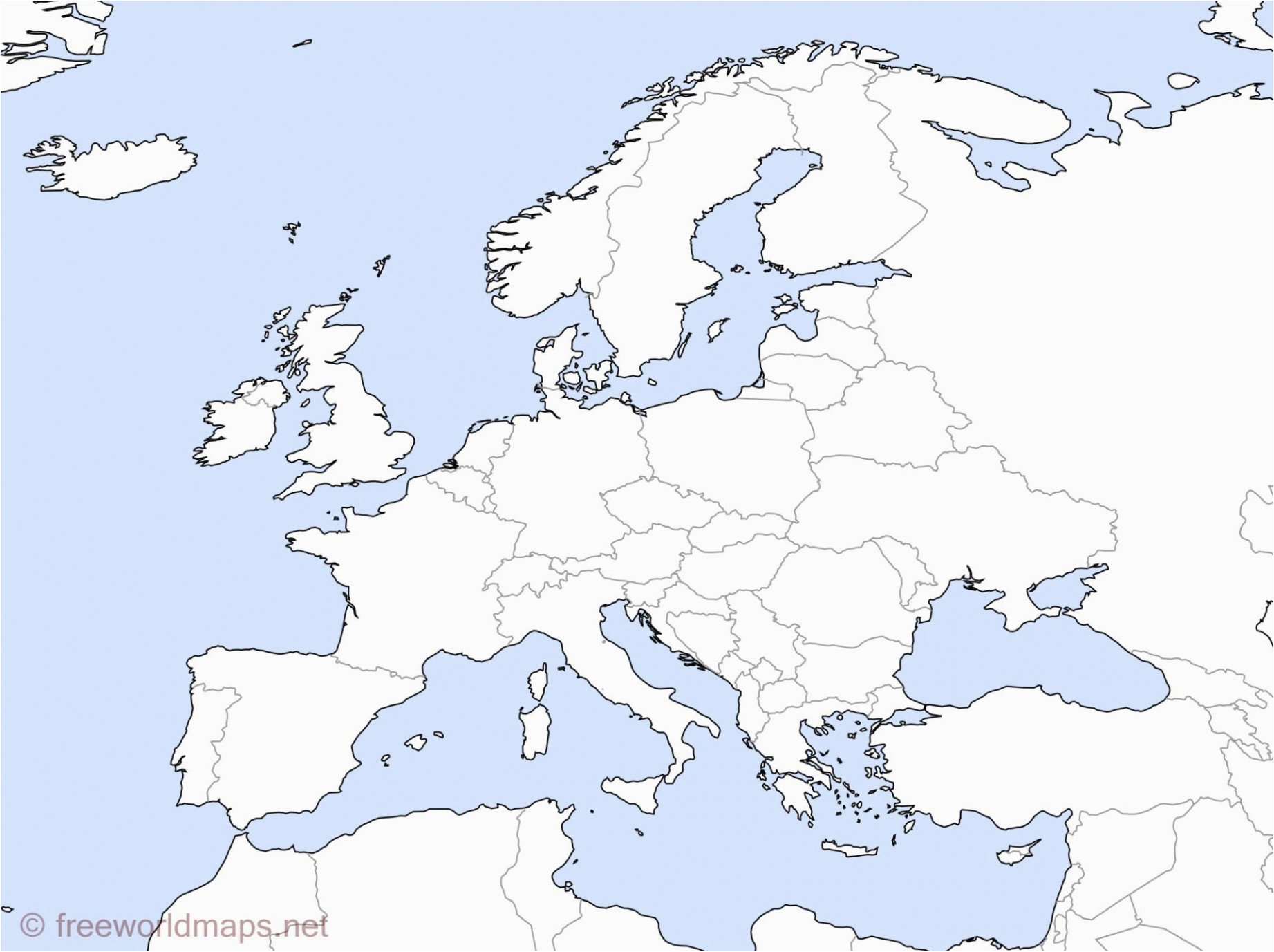 Map Of Europe Fill In Unlabeled Map Of Europe Climatejourney org
