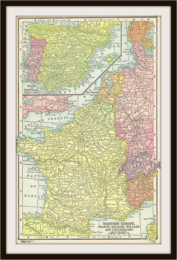 antique map france belgium holland switzerland by