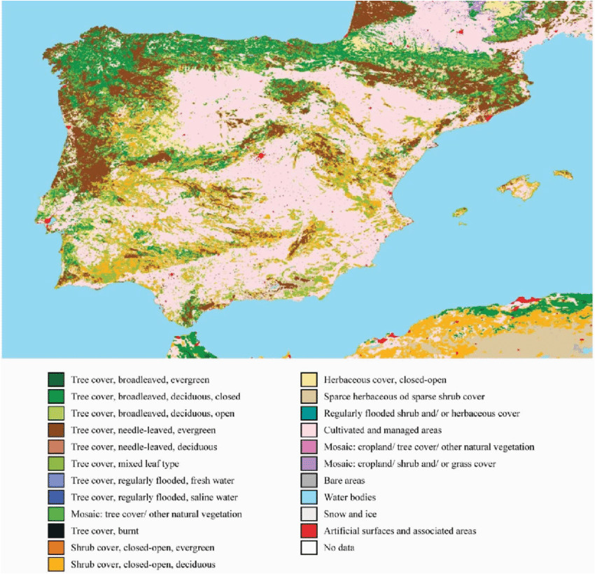 land cover classification for the iberian peninsula adapted