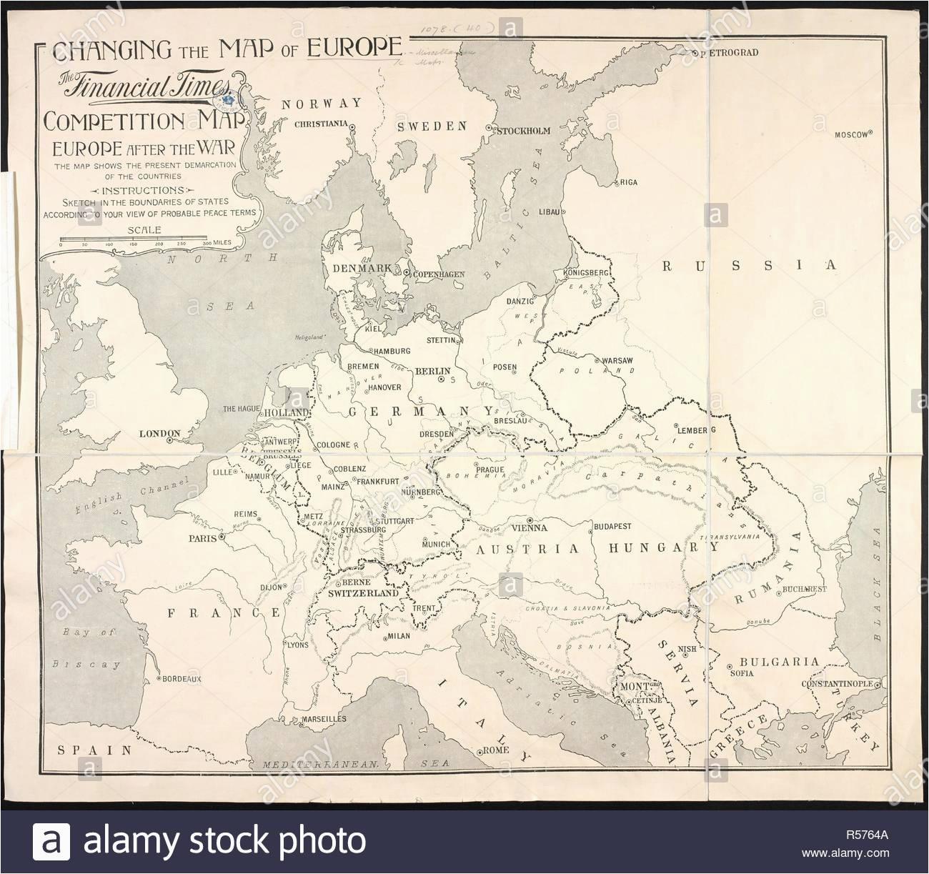 map europe world war i stock photos map europe world war i