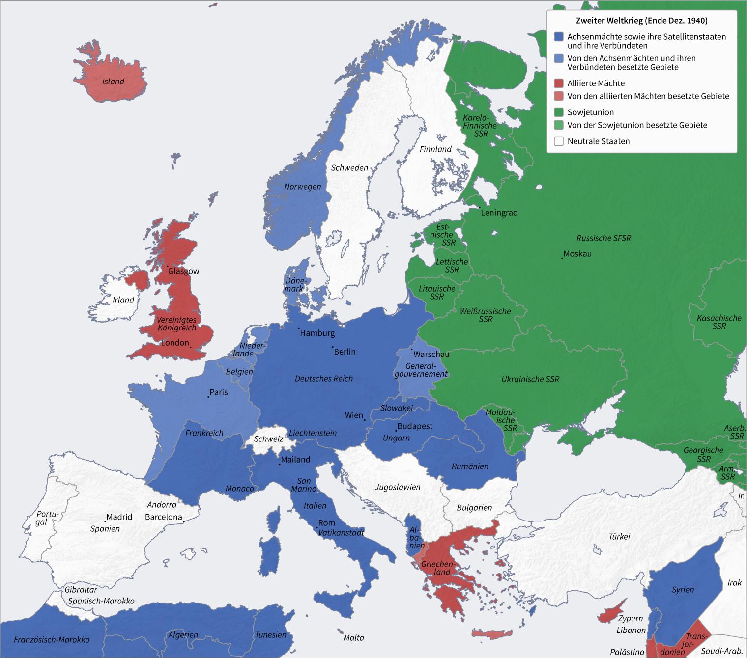 Map Of Europe In 1940 Datei Second World War Europe 12 1940 De Png Wikipedia