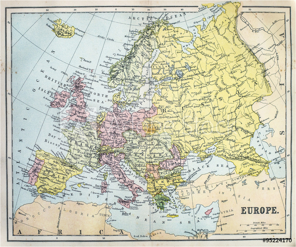 fotografia map of 19th century europe kup na posters pl