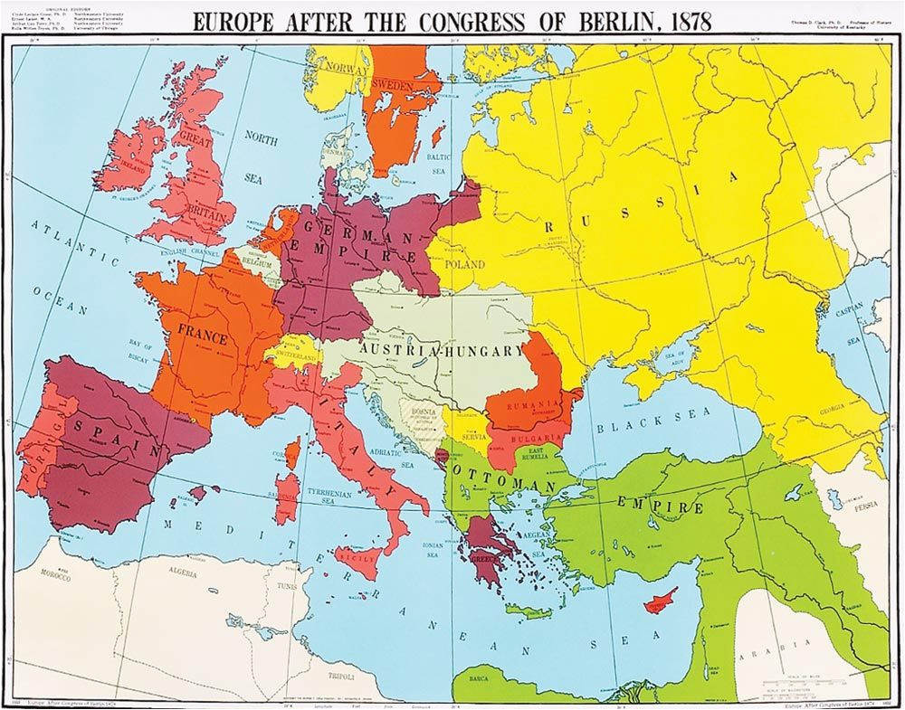 map of europe 1878 after th congress of berlin