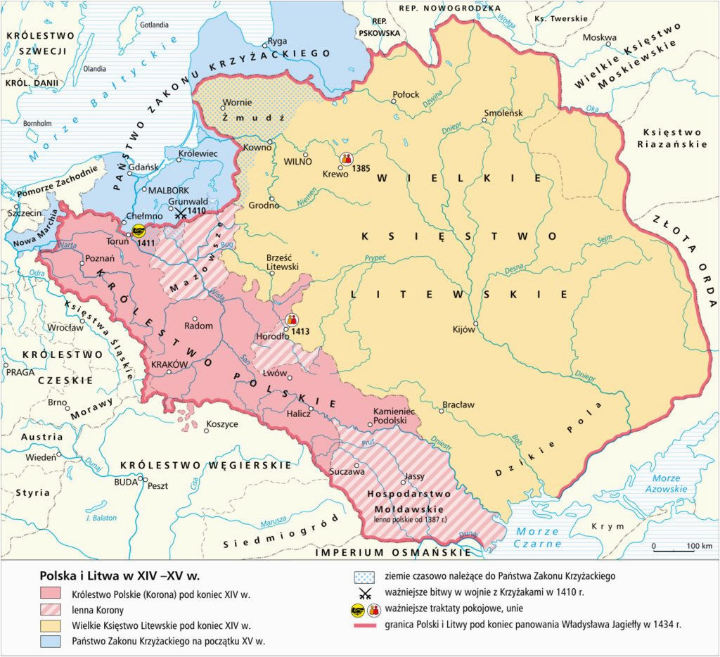 poland 1300s 1400s poland and lithuania maps poland