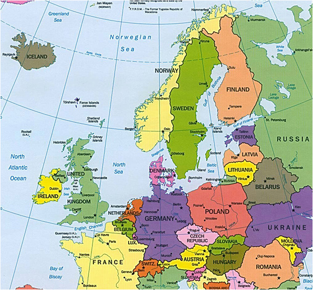 Map Of Europe Scandinavia Sweden On Map and Travel Information Download Free Sweden