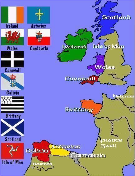 map of the celtic nations of europe maps celtic nations