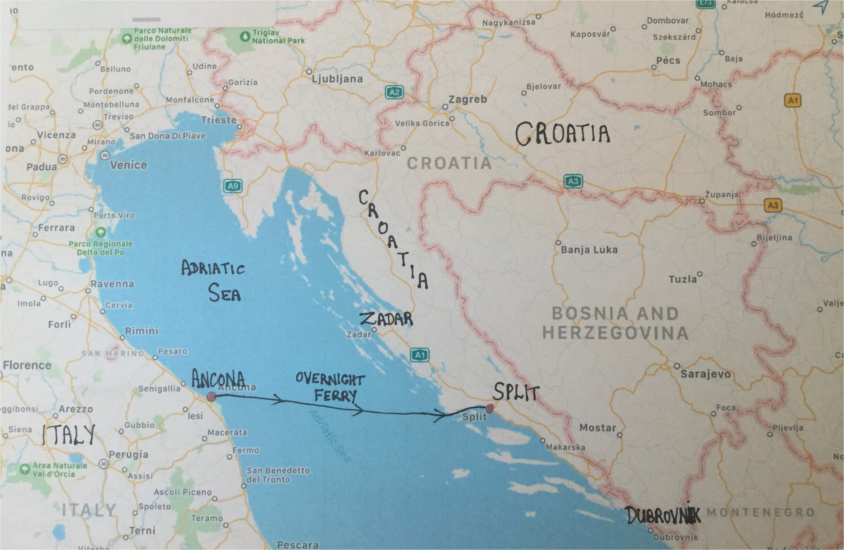 map of italy and croatia secretmuseum