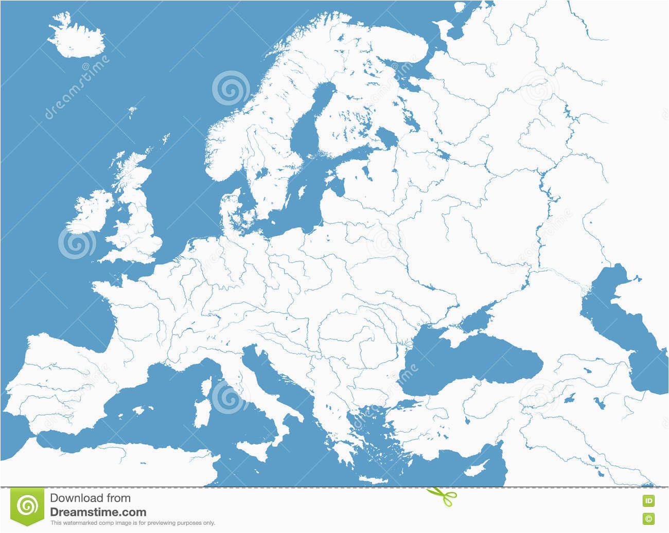 europe map rivers path map