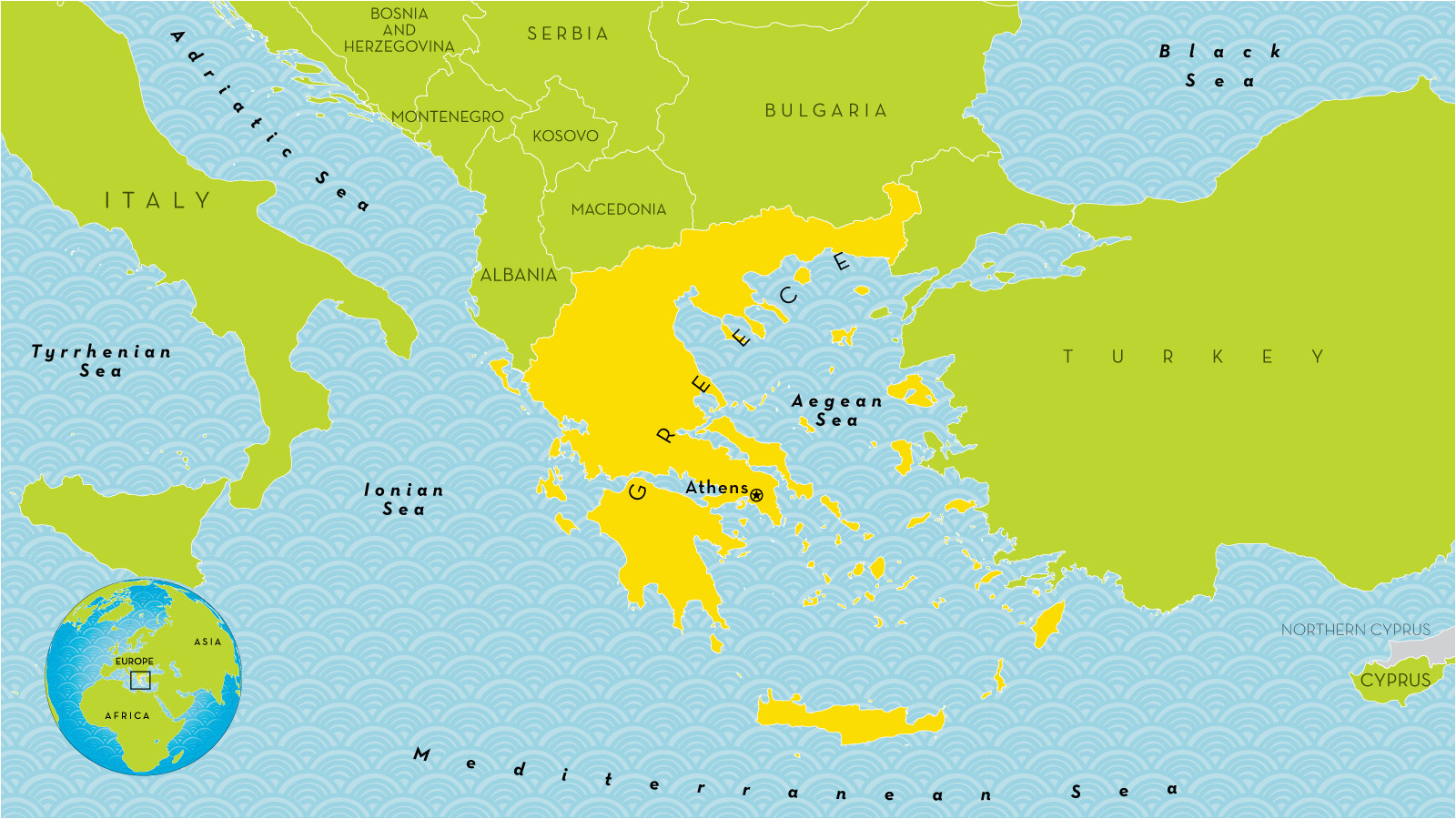 69 comprehensible map of greece in world map