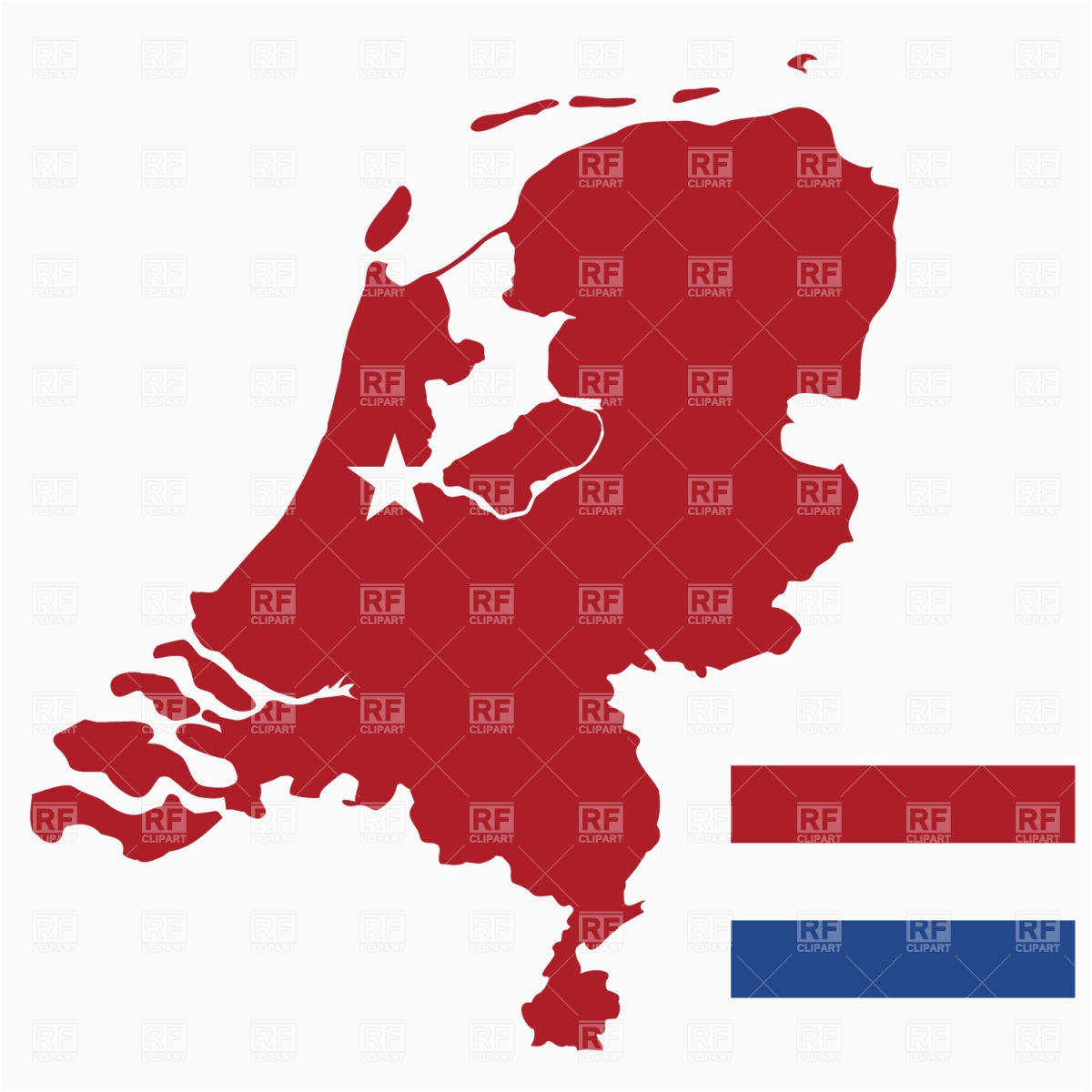 netherlands map and flag stock vector image