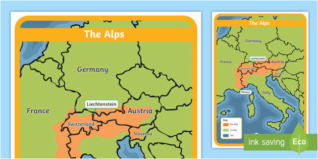 Map Of Mountains In Europe the Alps Map Habitat Mountain Climate Animals Europe
