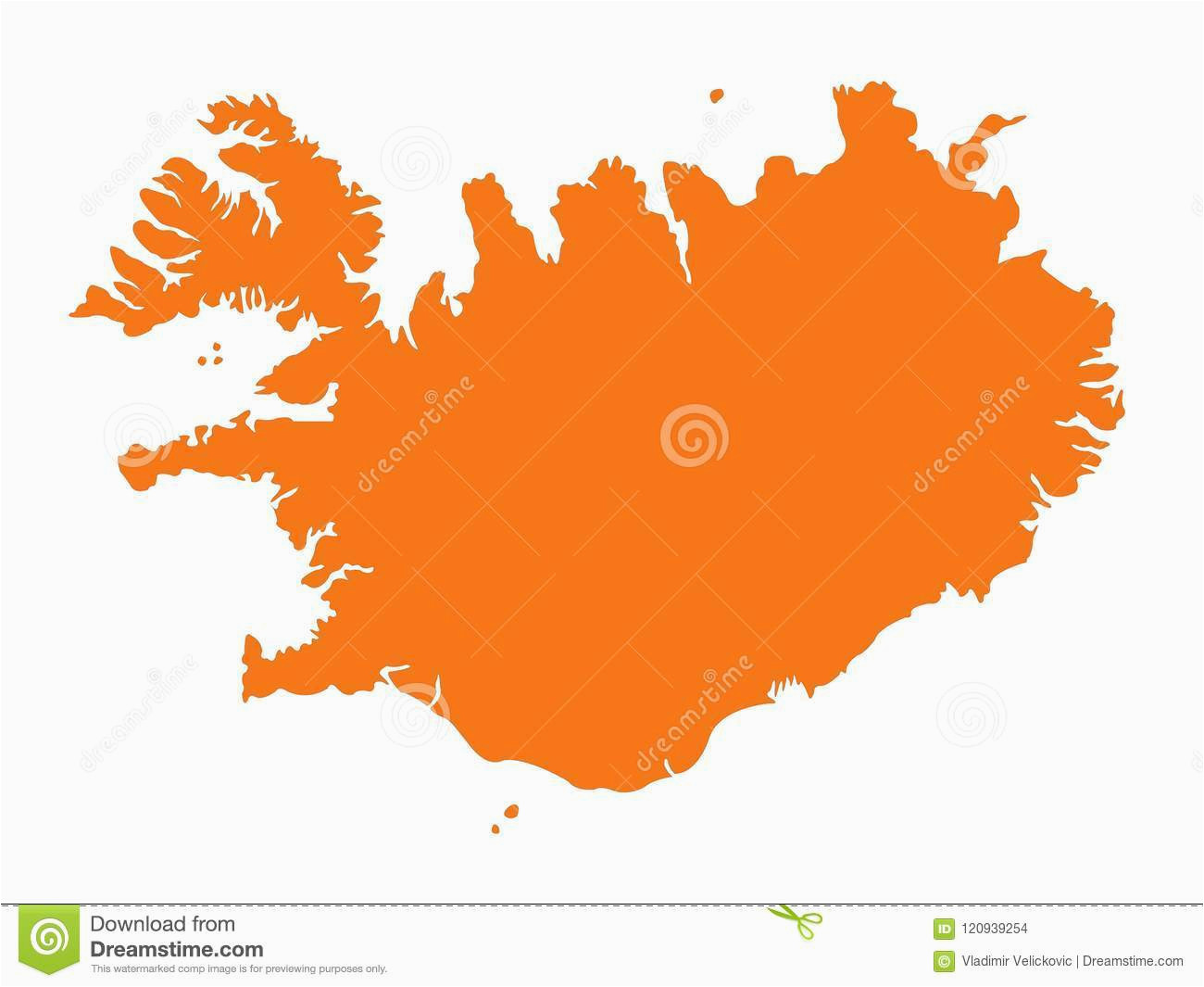 iceland map nordic island country in europe stock vector