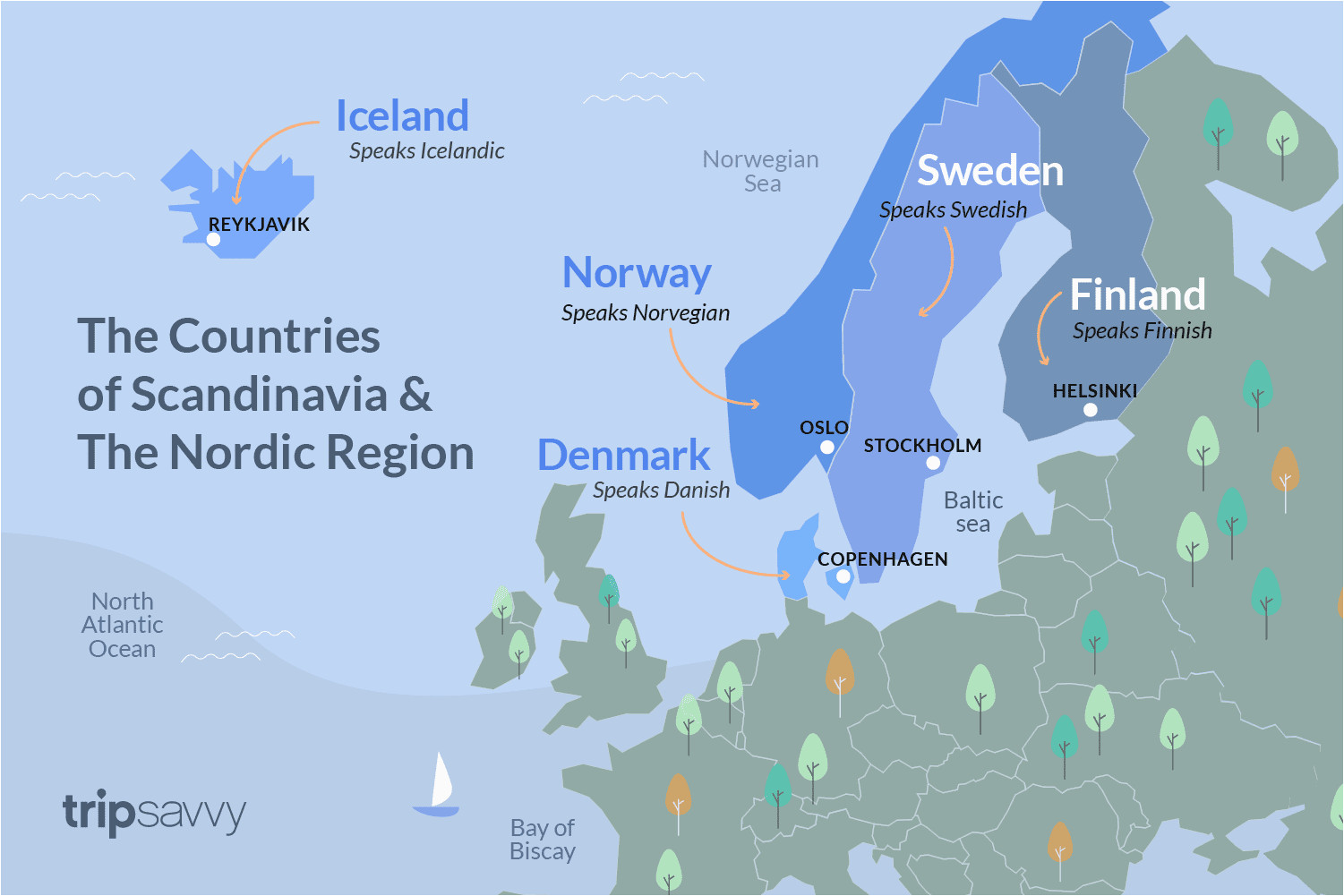 countries of scandinavia and the nordic region