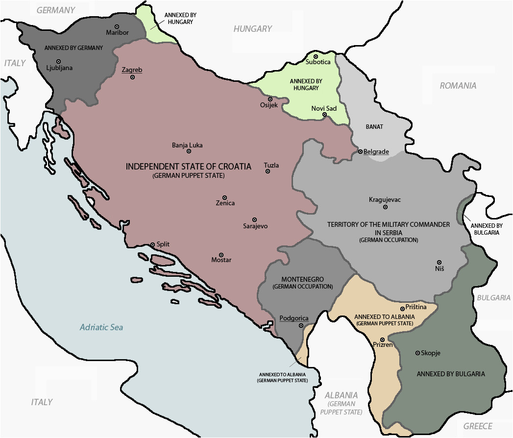 occupation and partition of yugoslavia 1943 44 country