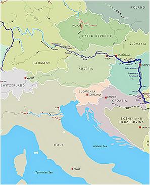 Map Of River Danube In Europe Danube Map Danube River byzantine Roman and Medieval