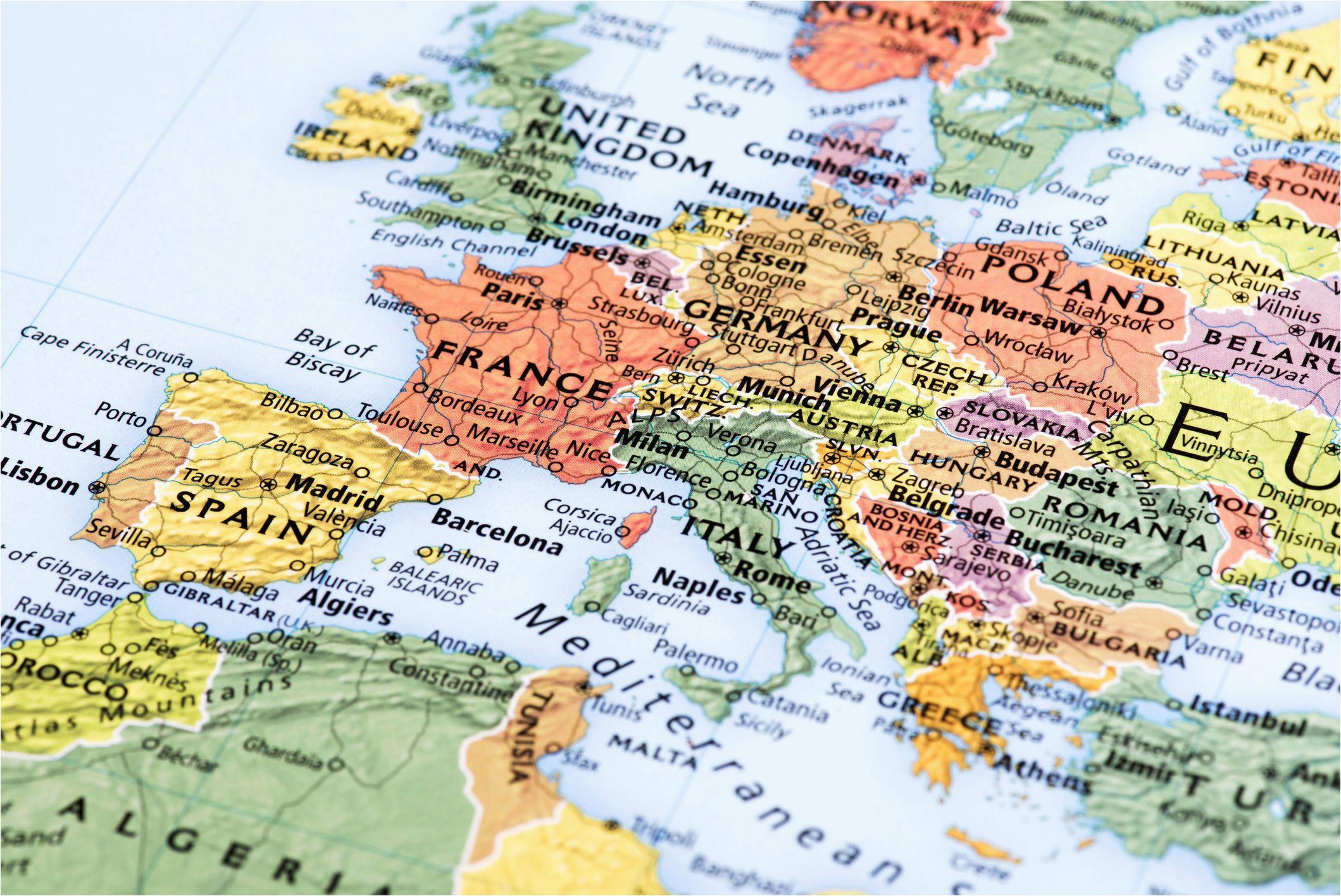 northern europe cruise maps