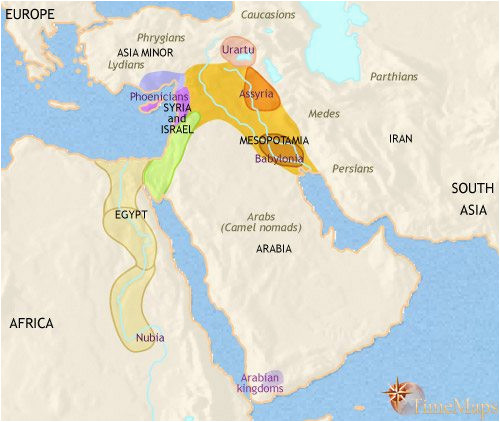 map of middle east at 1000bc timemaps