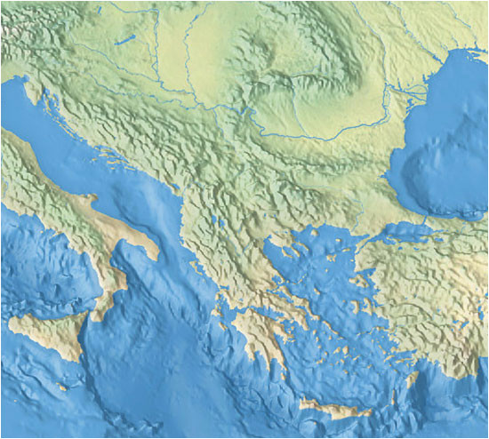 political map of the balkan peninsula nations online project