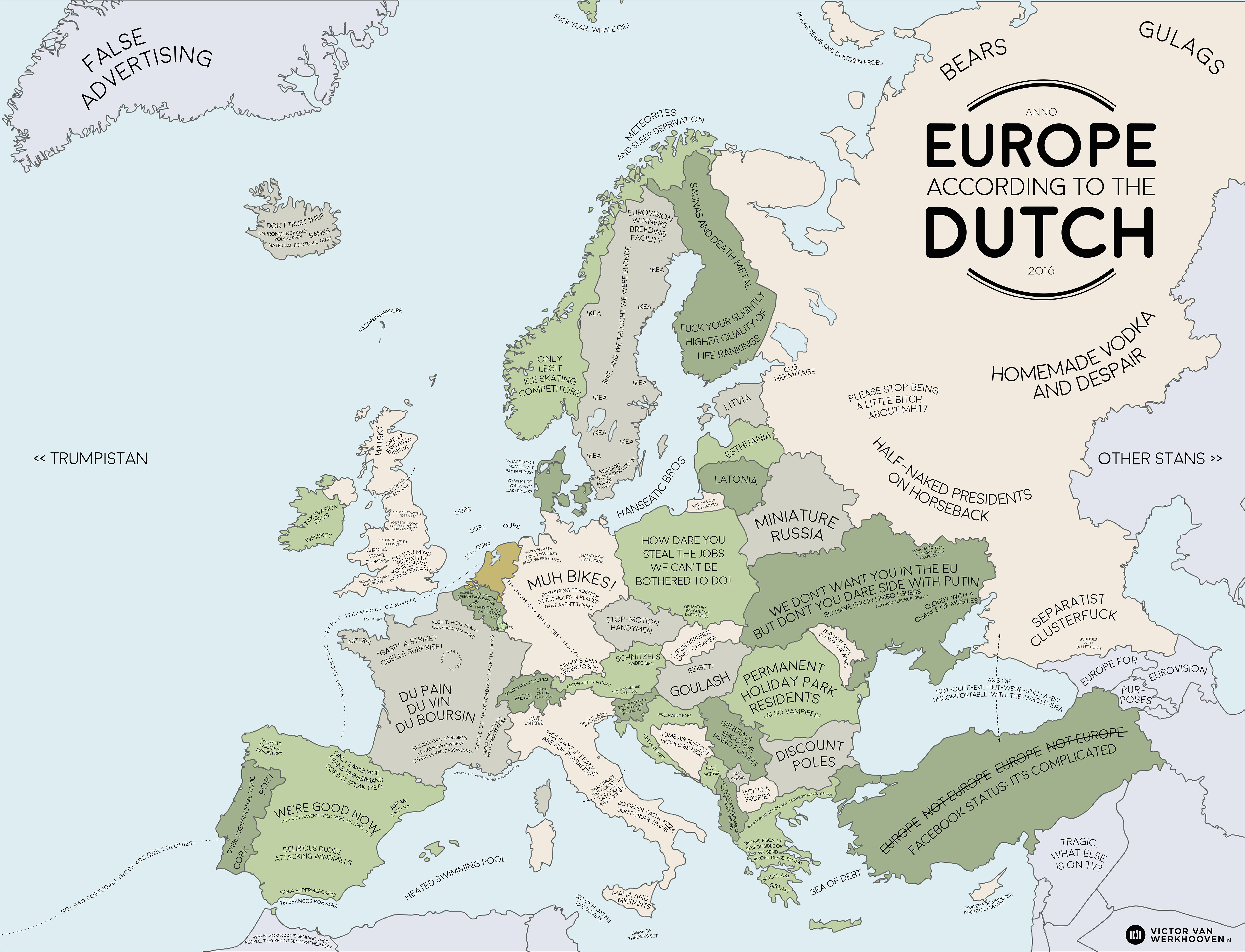 europe according to the dutch funnies map dutch people