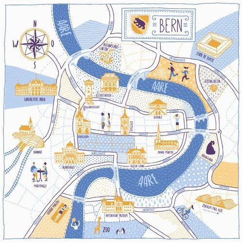 redesign city map of bern switzerland disea o de