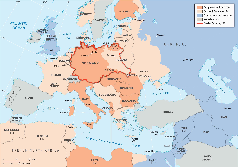 wwii map of europe worksheet