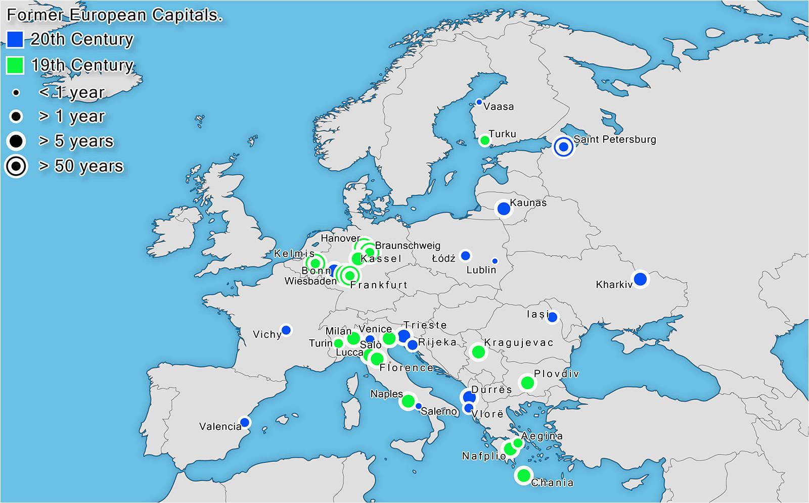former european capitals oc 1600x996 mapporn
