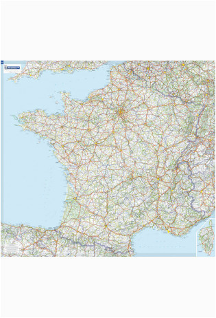 france laminated wall map 111 x 100 cm michelin maptogo