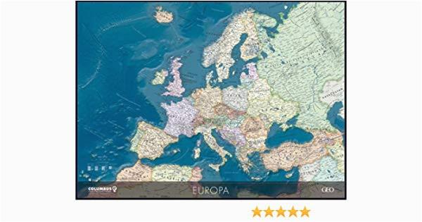 columbus geo europa politisch mit meeresrelief planokarte