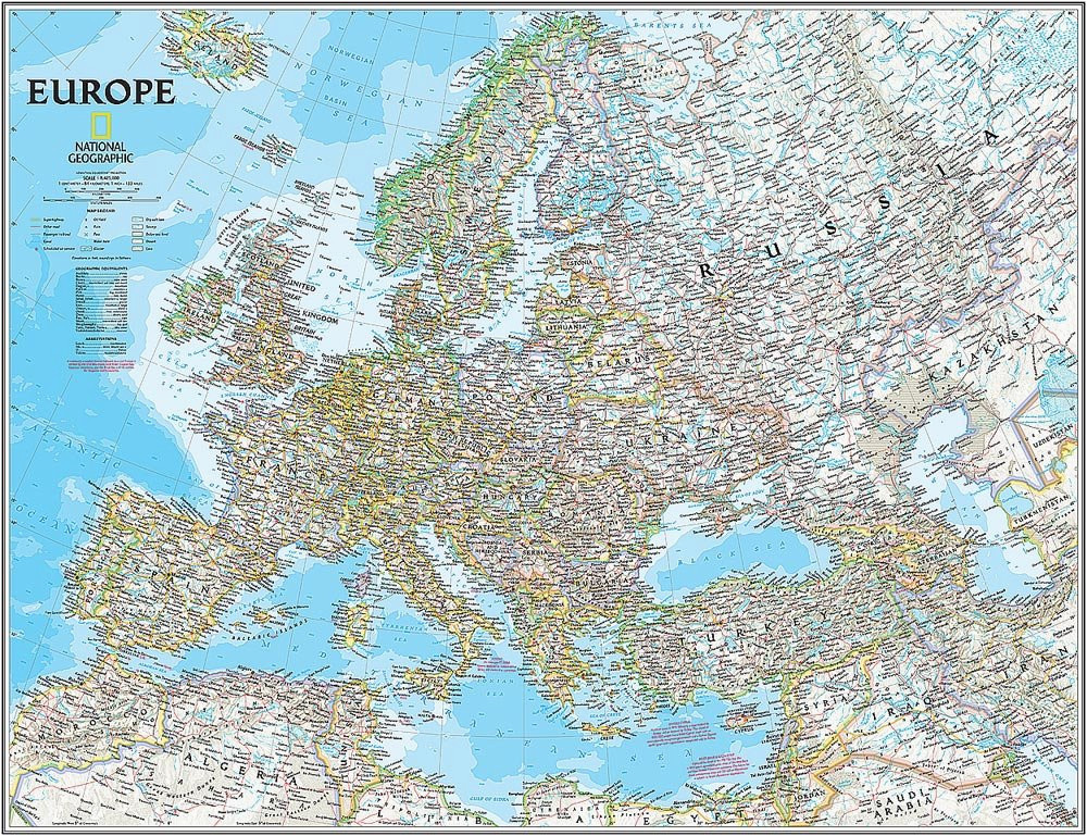 national geographic s classic europe map wall mural self