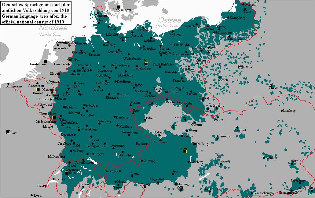 distribution of german speakers in 1910 operae iuni