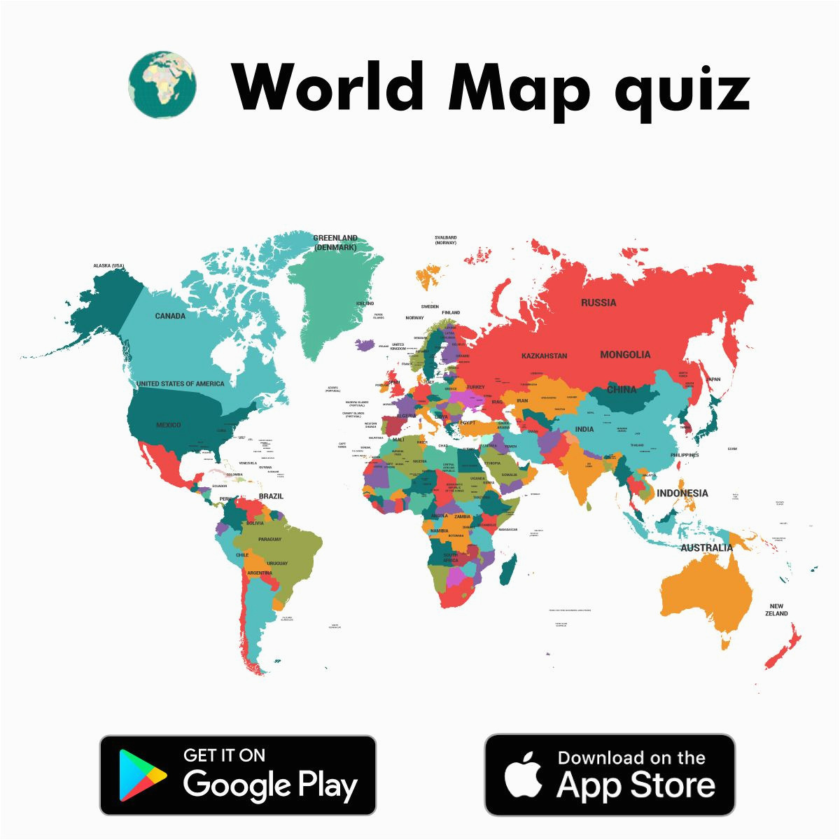 world map quiz app is an interesting app developed for kids