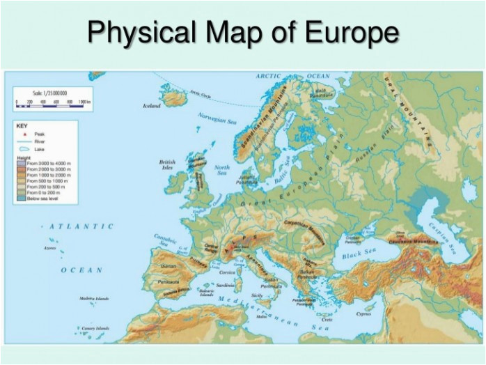 Physical Feature Map Of Europe Physical Europe Map Climatejourney org