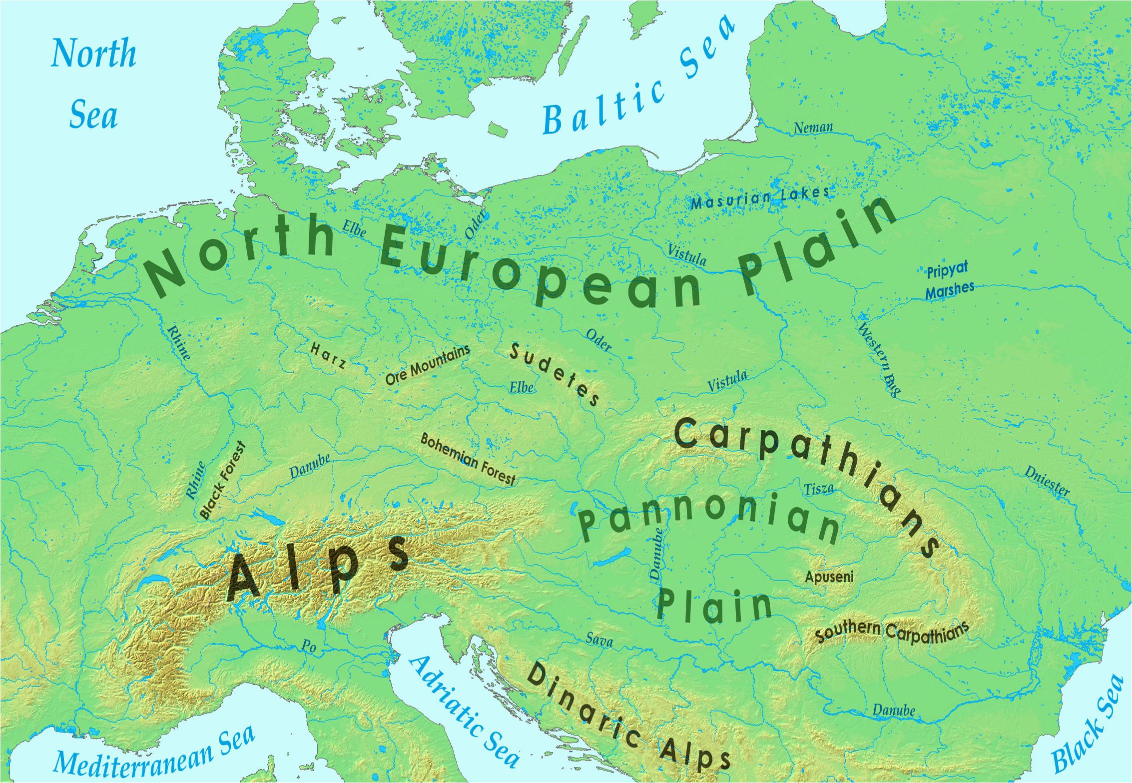 eastern europe mountains map lgq me