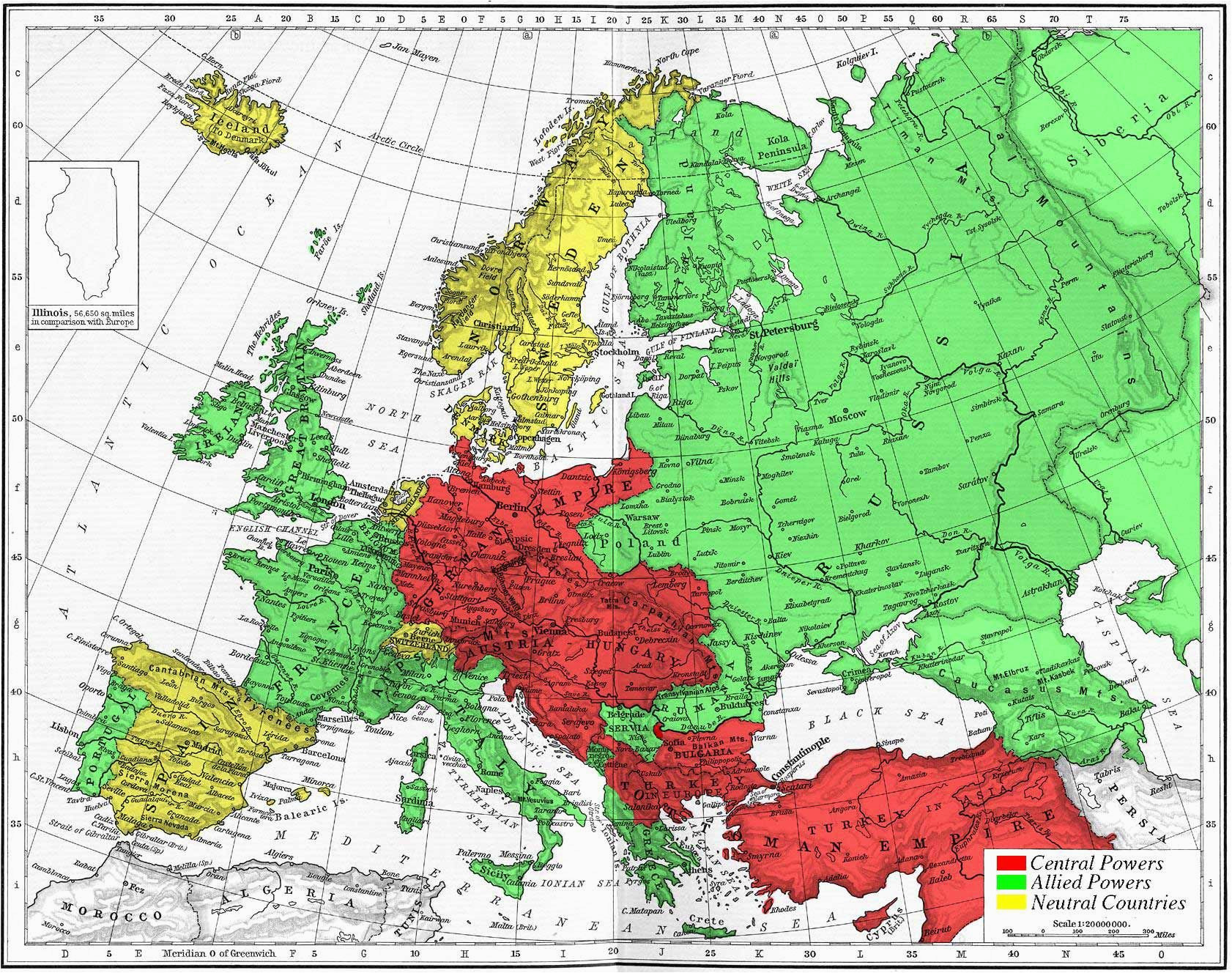 map of europe during world war i history europe 1914