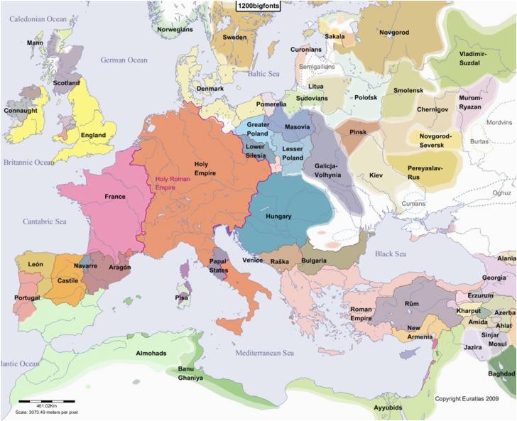 euratlas periodis web map of europe in year 1200
