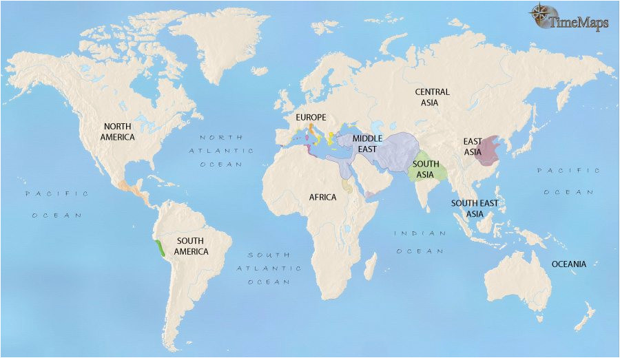 map of world at 500bc timemaps