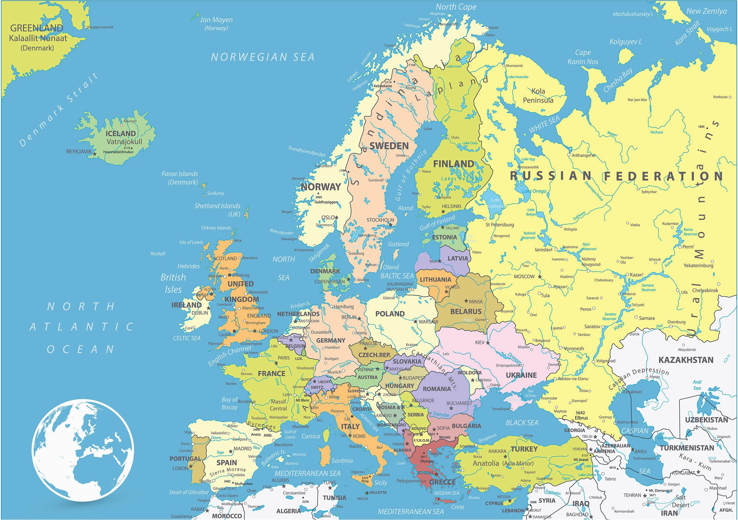 map of europe europe map huge repository of european