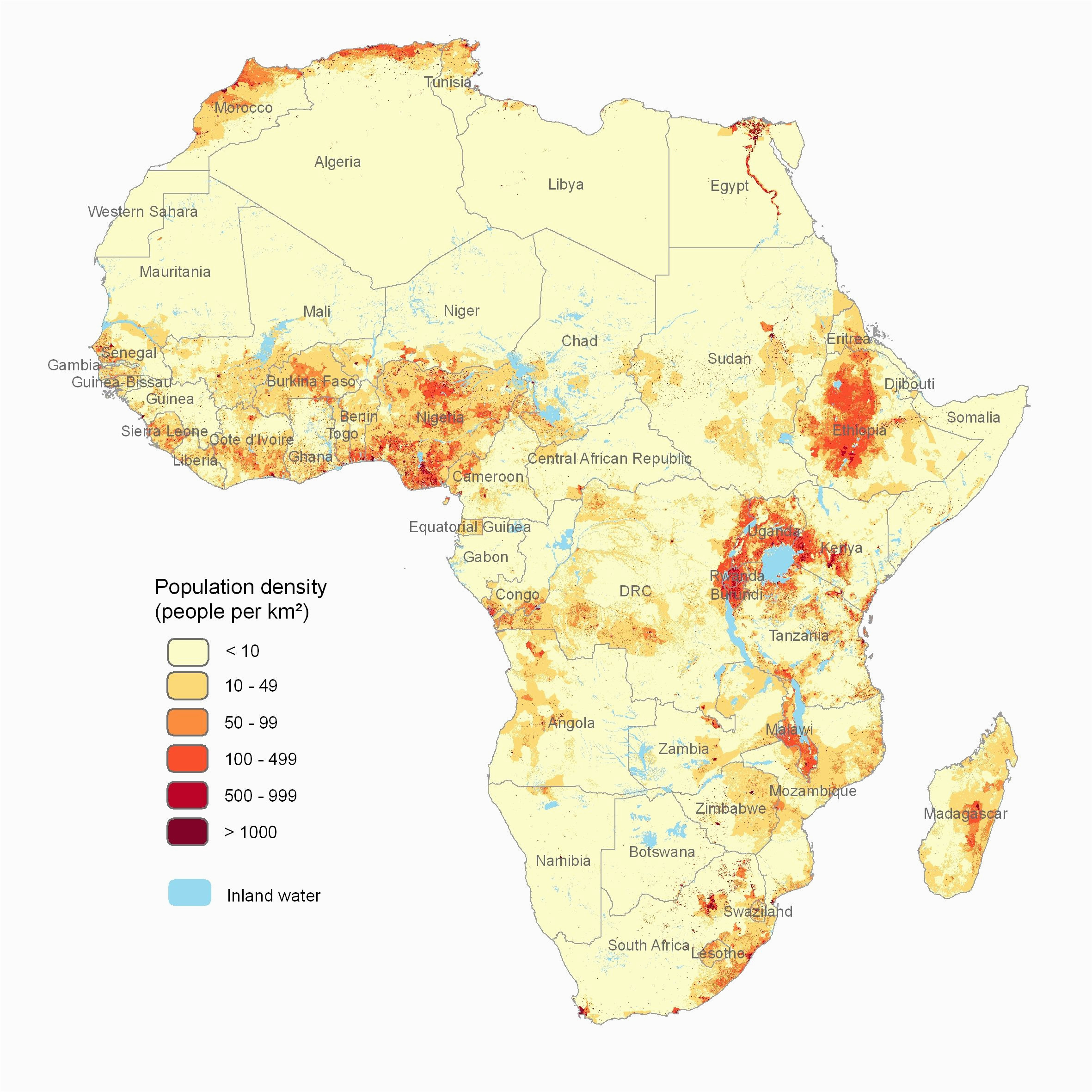 population density map of africa maps and maps and maps