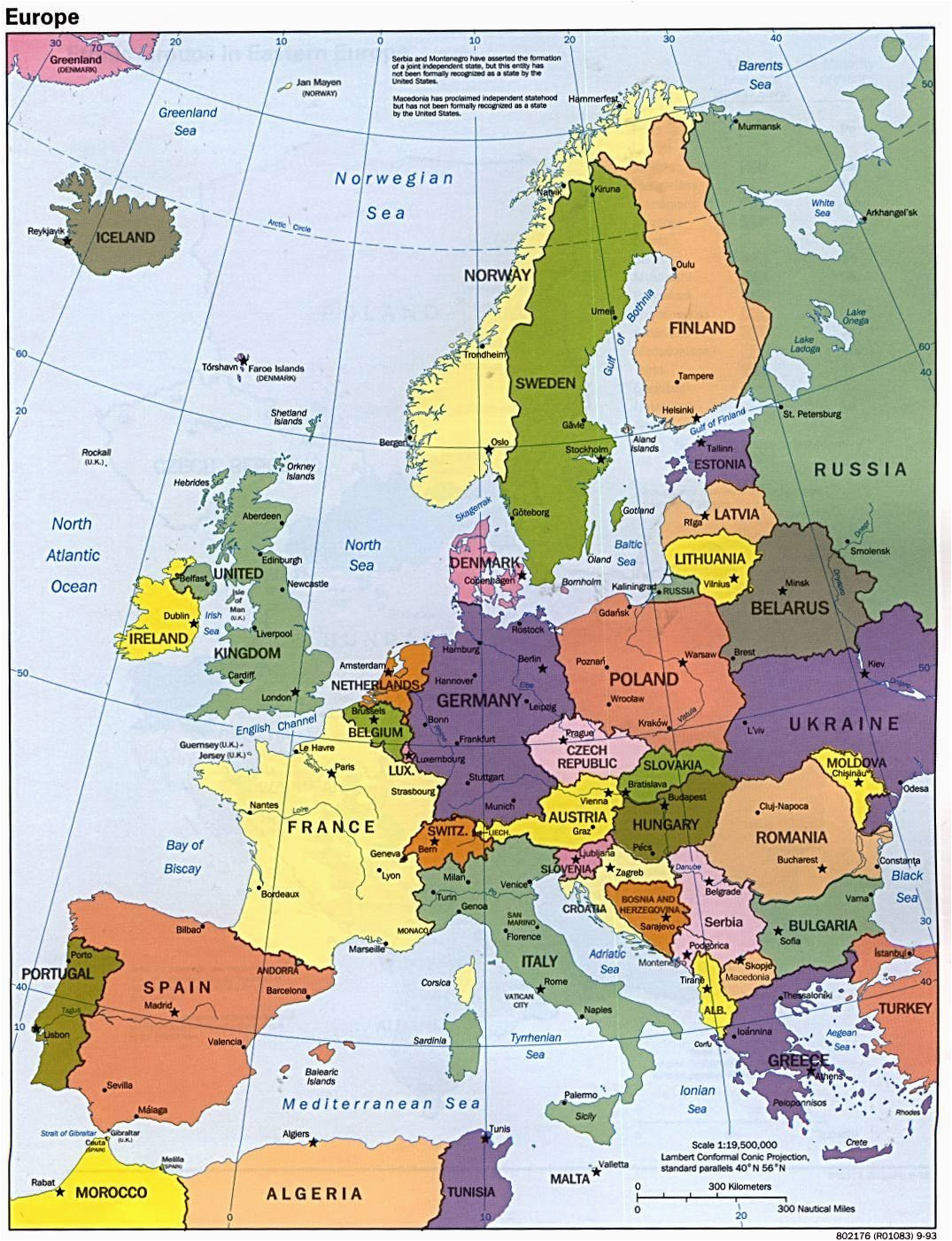 Portugal On Europe Map Map Of Europe Maps Kontinente Europe Reisen Und Europa