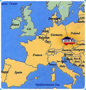 prague map europe