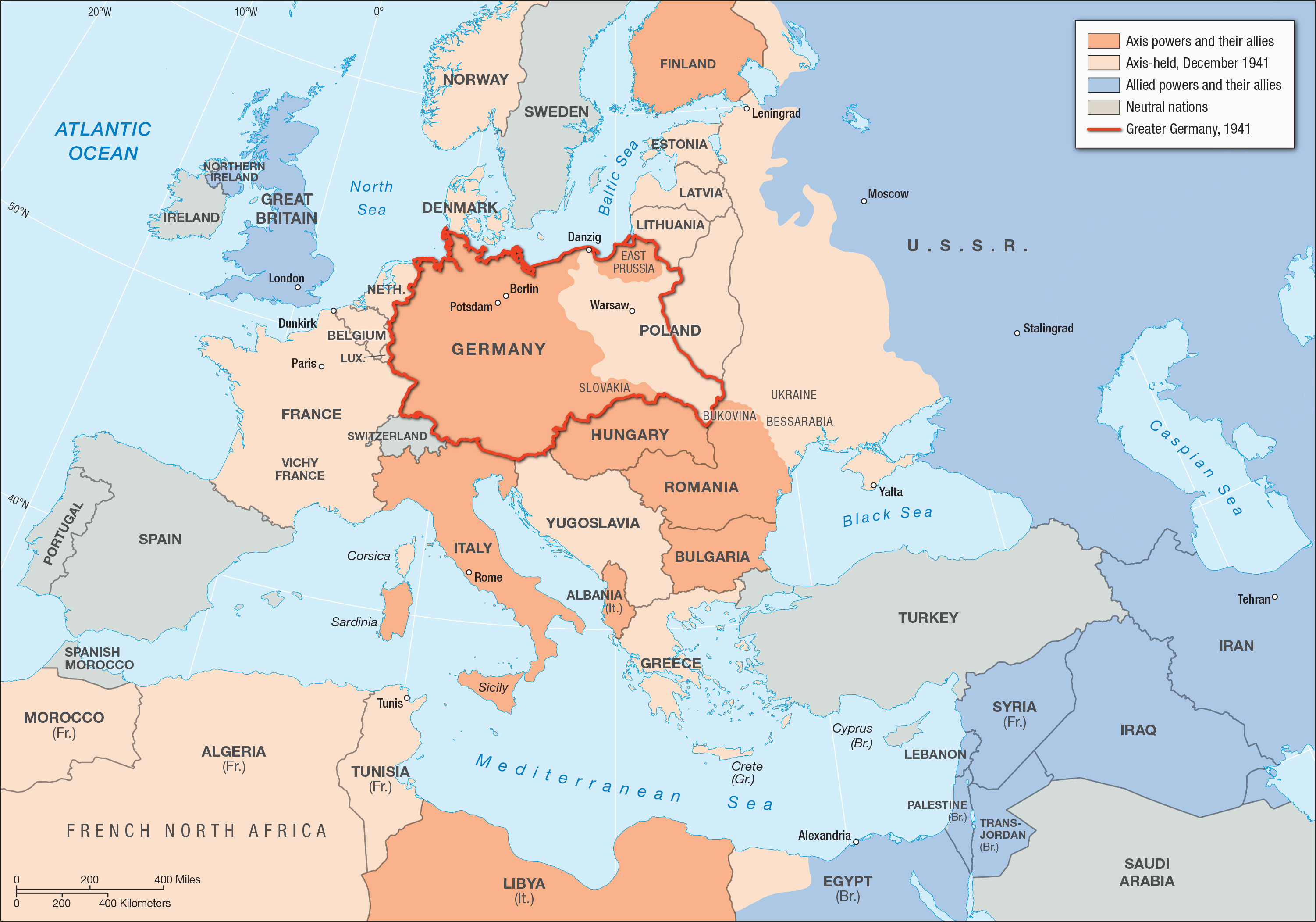 wwii map of europe worksheet