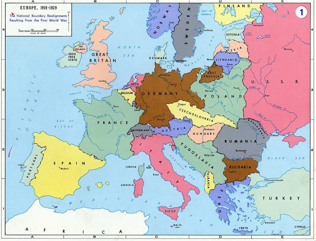 Pre World War Ii Map Of Europe Pre World War Ii Here are the Boundaries as A Result Of
