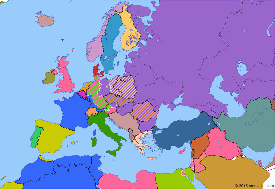 political map of europe the mediterranean on 10 feb 1947