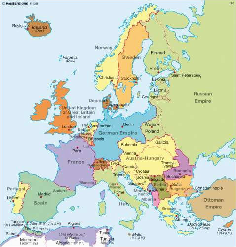 map of europe beginning world war i 1 download them and print