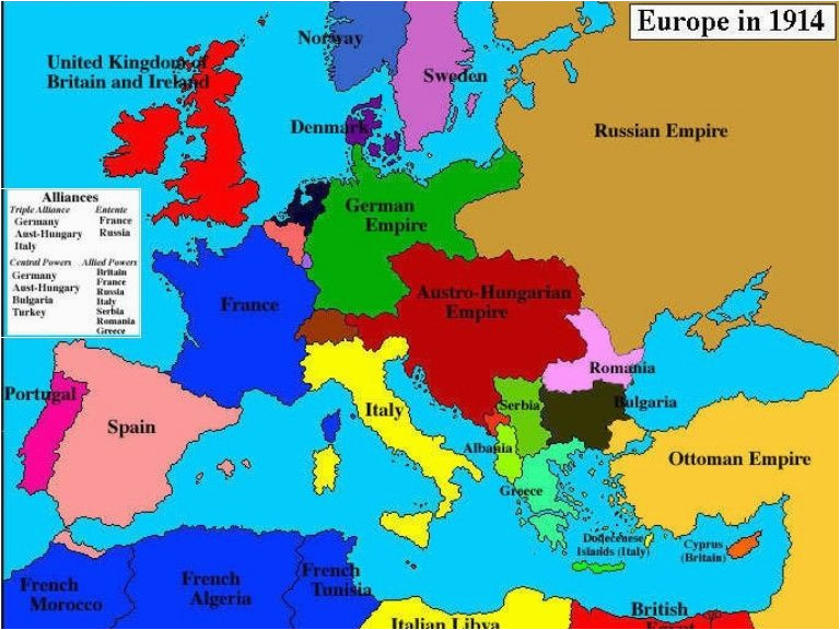world war one map fresh map of europe in 1914 before the