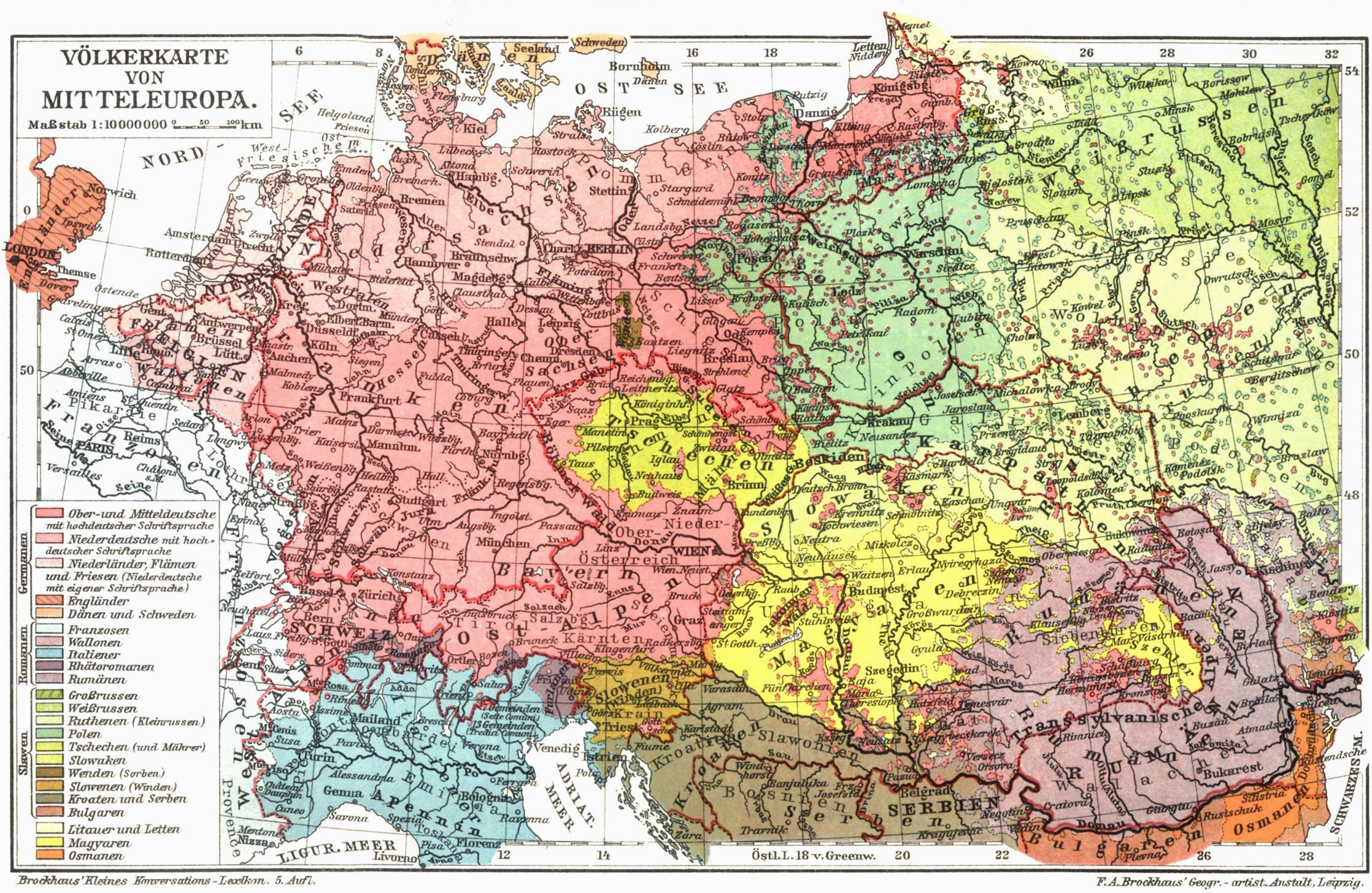 an old map of mitteleuropa there are no so many germans in