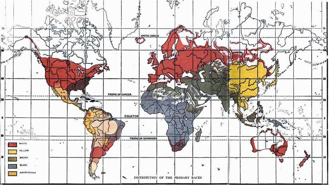 global racial map by lothrop stoddard in the rising tide of