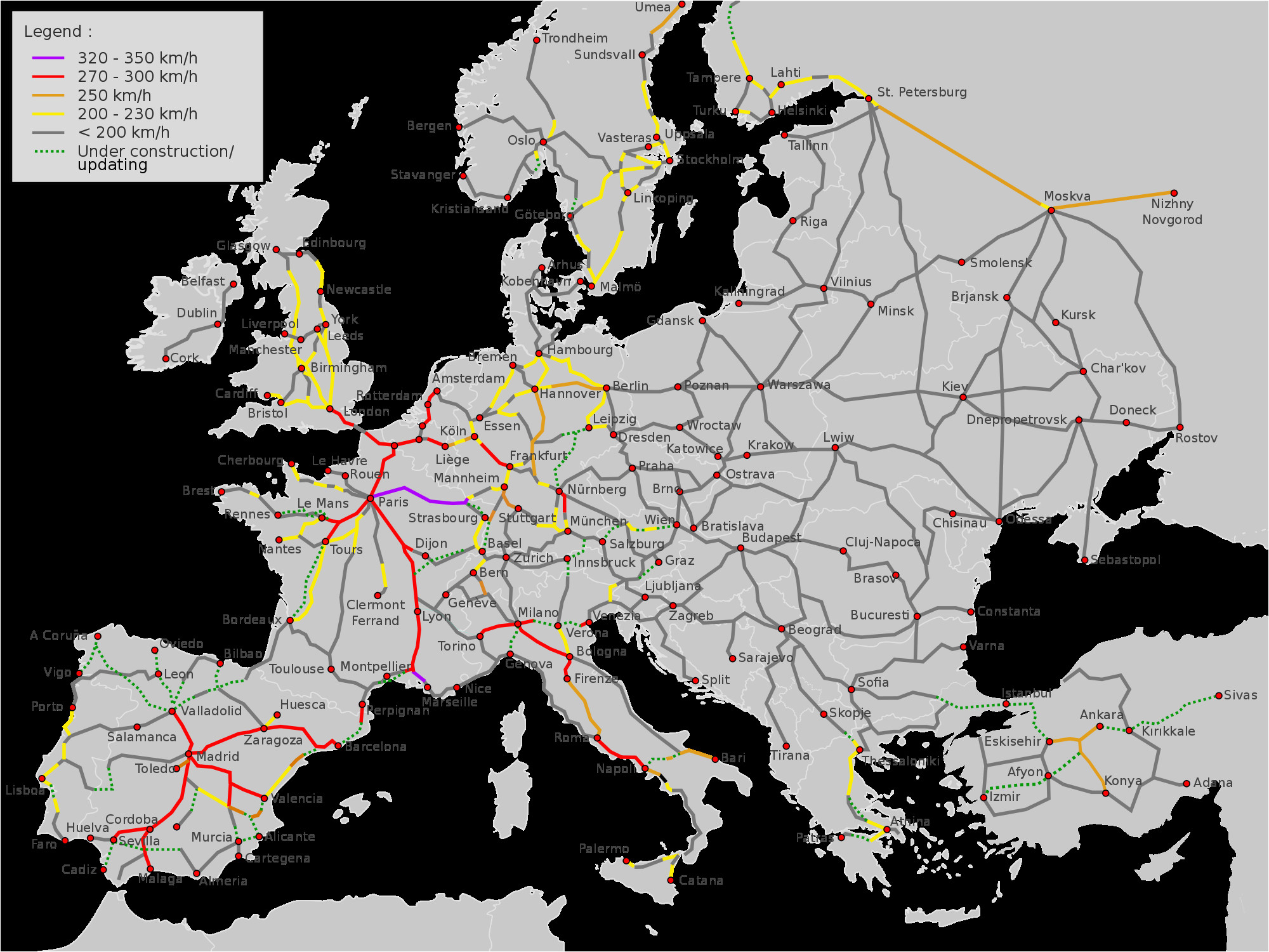 eu hsr network plan infrastructure of china map diagram