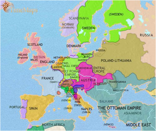 map of europe at 200ad timemaps